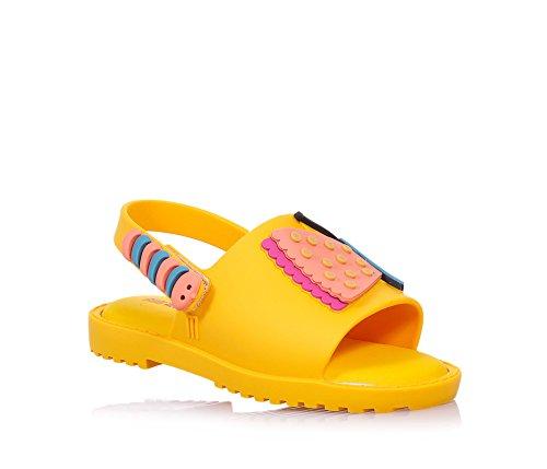 andale Mia + Fabula, Made in Brazil, mit Einem Muster mit Einem Schmetterling und Einer Raupe, Mädchen-30 (Minnie Maus Gelb Schuhe)