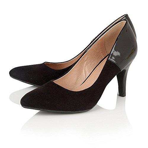 Lotus Betulia (en microfibre Noir et Brillant Cour Chaussures Noir