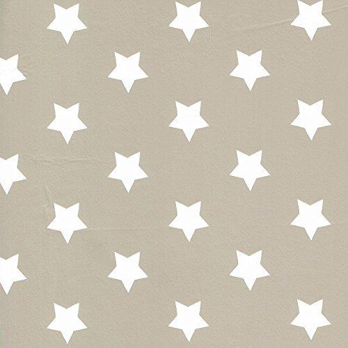 KEVKUS Toile cirée nappe Mètre Noël étoiles Motif Taille au choix dans Carré Rond Ovale (110 x 260 cm carré (bière Table XXL), m90353 de Taupe Gris)