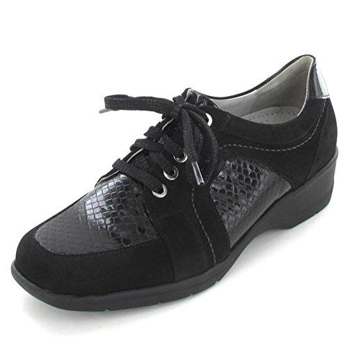 Waldläufer  442281 302 001, Chaussures de ville à lacets pour femme Schwarz