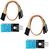 Stemedu - Módulo de sensor de humedad de temperatura DHT11, compatible con Arduino Raspberry Pi Micro: bit con 3 pines DuPont Jump Wires