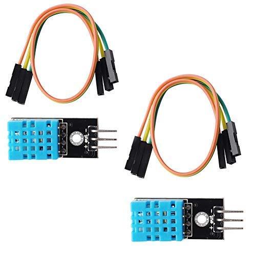 DHT11 Temperatur-Feuchte-Sensor-Modul (2 Stück), kompatibel mit Arduino Raspberry Pi Micro: Bit Microbit ESP8266 ESP-12E ESP32 -