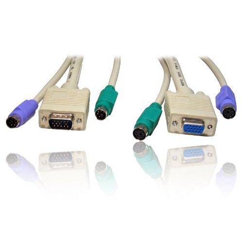 5 m conmutador KVM protectores teclado ratón vídeo