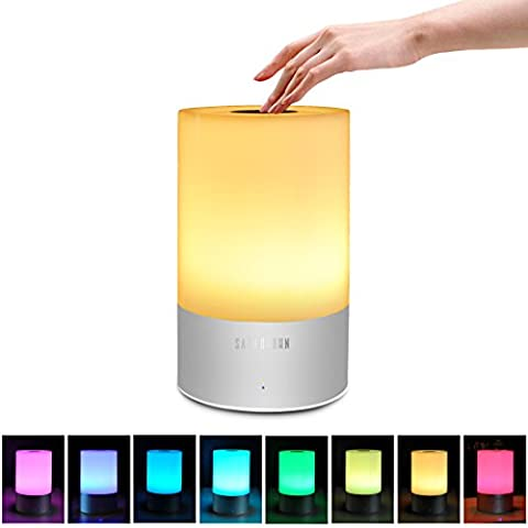 Table Lamp, Satu Brown Smart LED Touch Lamp Bedside Lamp