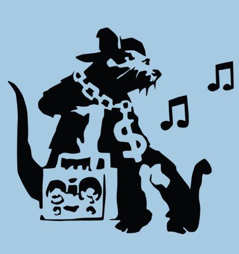 Ghetto Ratte Banksy Männer T-Shirt Hellblau