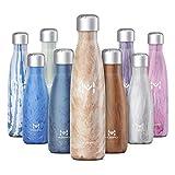 HOMPO Bottiglia Acqua in Acciaio Inox - Borraccia Termica 260ml / 500ml Isolamento Sottovuoto a Doppia Parete,Privo di BPA & Leakproof,Borracce per Bambini, Bici, Palestra