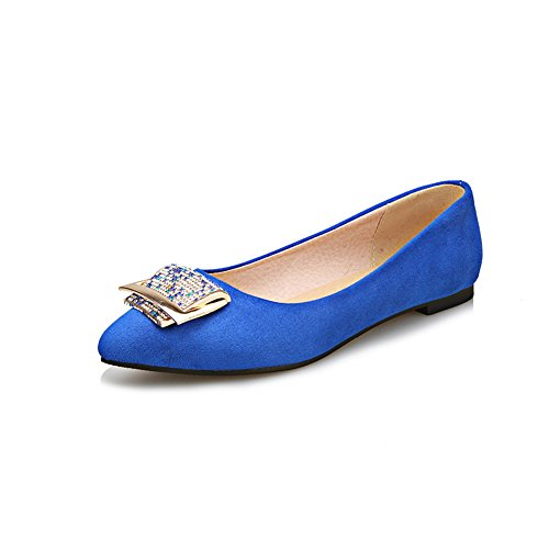 Adee, Scarpe col tacco donna, blu (Blue), 40