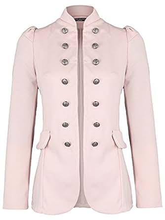 Damen Blazer Militäry Style ( 513 ), Farbe:Rosa, Blazer 1:42 / XL