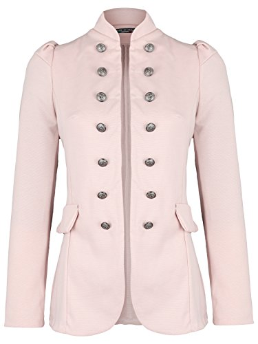 Damen Blazer Militäry Style ( 513 ) (44 / XXL, Rosa)
