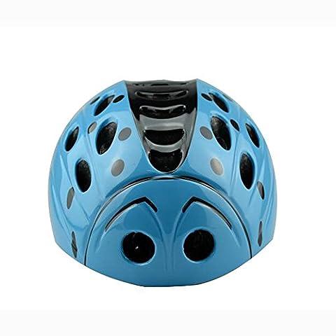 Lei HuanLeBao Bicycle Helmet Child Safety Cute Ladybug Helmet Removable Bicycle Helmet Mount Helmet Guard , Blue