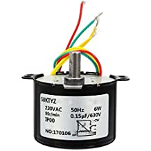 Rishil World 50KTYZ 220V 6W Synchronous Gear Motor Replacement Motor 80r/Min 50Hz