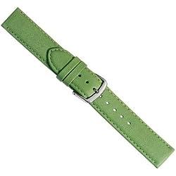 Herzog Beach Ersatzband Uhrenarmband Kalbsleder Band Gruen mit Naht 20386S, Stegbreite:14mm