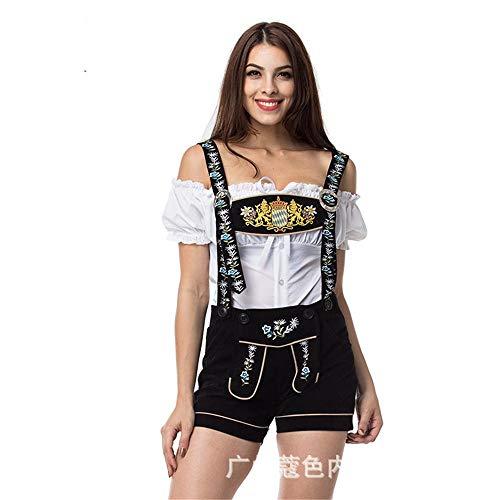 (Unterwäsche & Dessous Für Damenkellner Clothing_Bavarian Bier Passt Menies Dark Beer Festival Bar Kellner Promotion, Schwarz, L/XL)