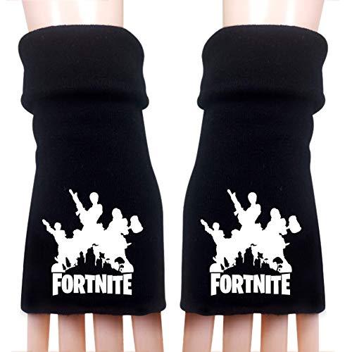Ailin Online Unisex Fortnite Fingerlose Handschuhe, Gaming Halbe Fingerhandschuhe Für Outdoor, Camping, Ski, Sport(H15)