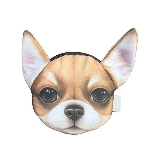 CAOLATOR Multifuncional Portátil Billetera Dinero de Serie de Perros /Paquete de Tarjeta Clave/ Carteras y Monederos/ Estuche de Lápices /Organizadores de Maletas /Makeup Bolsa