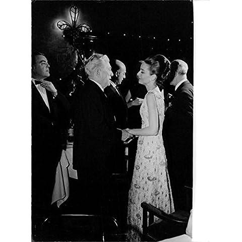 Audrey Hepburn with man in movie