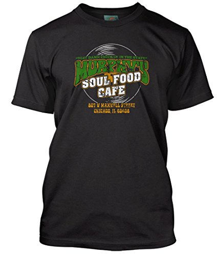 red Matt Guitar Murphys Soul Food Cafe, Herren T-Shirt, XX Large, Schwarz ()