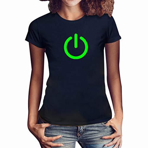 TYTUOO Frau Tops Sommer Mädchen Oberteil Plus Size Print Freizeithemd Kurzarm T Shirt Bluse