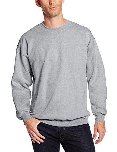 Hanes Men's Ultimate Cotton Crew Neck,Light Steel,X-Large (Cotton Crew Sweatshirt Ultimate)