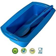 BACKHAUS FlexBake Stampo per Plumcake in Silicone antiaderente , Stampo in Silicone Premium 100% senza BPA con Spatola inclusa | 5 anni di Garanzia | ∅23cm | Blu