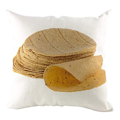 ZEELIY Kissenbezug Kissenbezüge Dekokissen Fall Sofa Auto Platz Kissenhülle Home Bed Decor 45x45cm, (Mexikanischer Burrito Print)