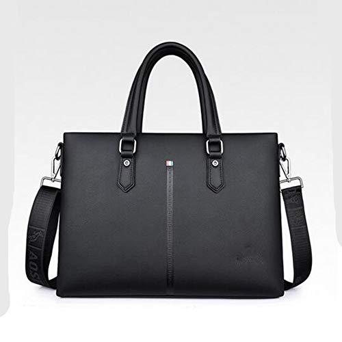 Doppel-zip Herren Aktentasche (Aktentasche Frau Italienischen Weichen Leder Handtaschen Damen Designer Leder Doppel Einfacher Stil Zip Handtaschen Schultertasche Tote Bag Taschen (Color : Colour, Size : One Size))