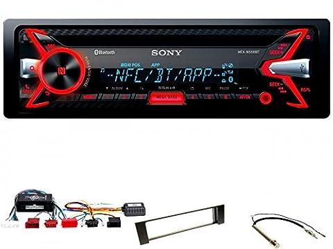 Komplett-Set Audi A4 B6/B7 Sony MEX-N5100BT Autoradio Bluetooth USB CD MP3 WMA