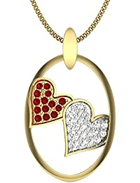 Perrian 18KT Gold, Diamond And Ruby Pendant For Women
