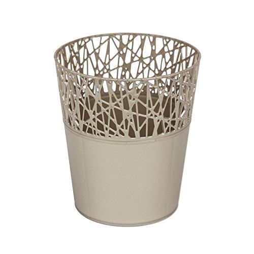 Rond cache-pot 16 cm CITY en plastique romantique style en platine