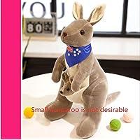 Cute Australian Kangaroo Plush Toy Doll Doll Baby Mother Child Gift Kangaroo No.4: 28Cm High Light Grey Blue Scarf (Small Kangaroo Not Desirable)