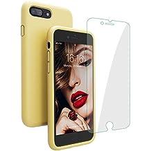 coque iphone 8 plus jaune pastel