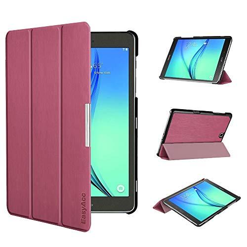 EasyAcc Ultra Slim Hülle für Samsung Galaxy Tab A 9.7 - mit Standfunktion und Automatischem Schlaf Funktion PU Leder Hülle - Zwetschgen Purpur