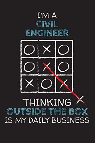 I'm a CIVIL ENGINEER: Thinking Outside The Box - Blank Dotted Job Customized Notebook. Funny Profession Accessories. Office Supplies, Work Colleague ... Retirement, Birthday & Christmas Gift.