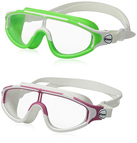 Cressi Kids Baloo Swim Goggles (2 Pack), Lime/Pink
