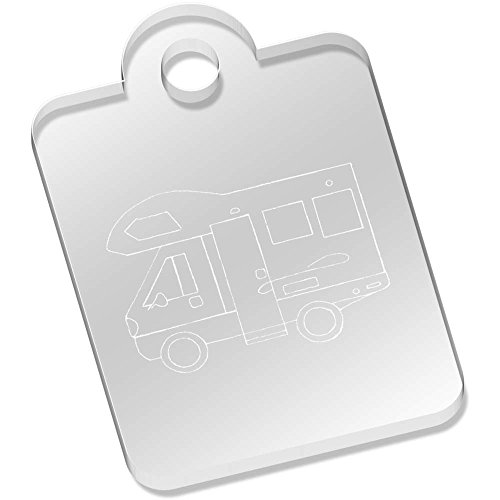 49mm 'Motorhome Vehicle' Engraved Keyring (AK00048130)