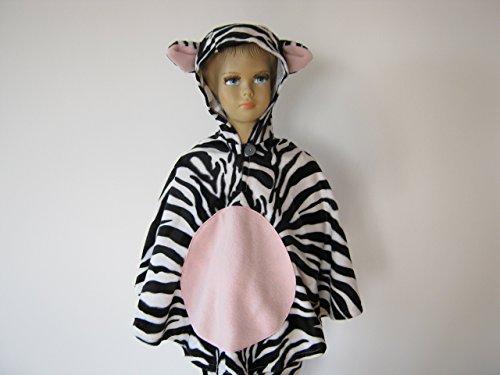fasching karneval halloween kostüm cape für kleinkinder aus fellimitat zebra (Kostüm Zebra Halloween Kleinkind)