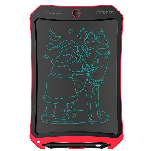 IGERESS 8,5-Zoll-LCD-Schreibtafel mit coolen Roboter Element Design elektronische Schreibtafel für Kinder und Erwachsene glücklich Zeichnung und Arbeiten