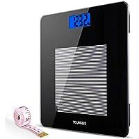 Báscula Digital Con LCD Pantalla, Báscula de Baño Digital de Alta Medición Precisa 28st/180kg/400lb,Cinta Métrica.