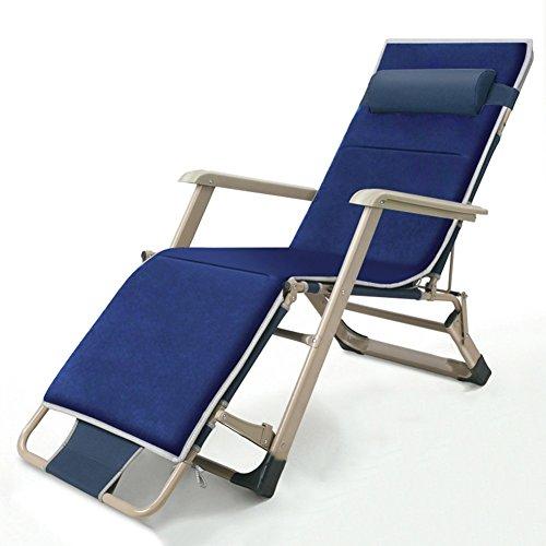 QIDI Chaise Longue Pliante Métal Pliable Simple 98 * 14 * 66cm (Couleur : Style 2)