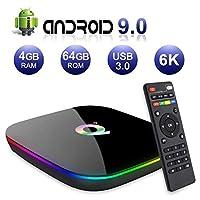 Nano CLassic Q Plus 4GB RAM 64GB ROM Android 9.0 New 6K TV Box H.265 HDMI 2.0 Output Ethernet RJ-45 with USB 3.0