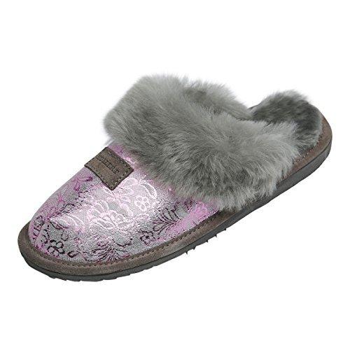 Hollert Lammfell Hausschuhe - Sydney Modell 9 Damen Pantoffeln Fellschuhe Puschen Echtes Merino Schaffell Größe EUR 39