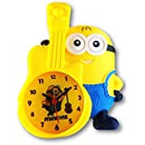Minion table alarm clock, desk clock for kids room and home decor (Minion With Guitar)