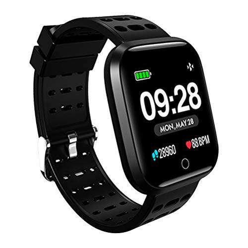Smartwatch Wasserdicht Smart Watch Uhr mit Pulsmesser Fitness Tracker Sport Uhr Fitness Uhr mit Schrittzähler,Schlaf-Monitor,Stoppuhr,Call SMS Benachrichtigung Push für Android und iOS