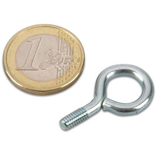 Lot de 50 vis auböse Vis à anneau en acier M4 mm, galvanisé