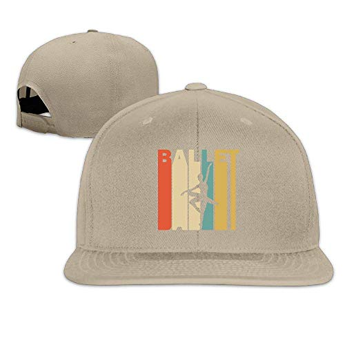 Mens and Womens Flat Baseball Cap, Fashion Retro Style Ballet Silhouette Trucker Hat - Coach Ballet Flats