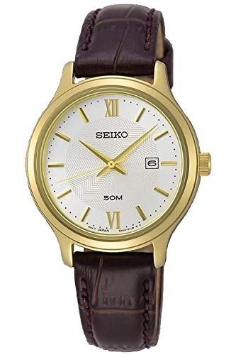 Seiko neo classic orologio Donna Analogico Al quarzo con cinturino in Pelle di vitello SUR644P1