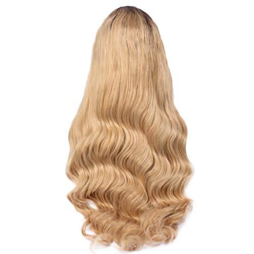 Ttmall parrucche carnevale donna,parrucche cosplay sintetiche donna capelli lunghi bob wave,parrucche donna lunghe e ricce riccia lunga sfumata bionda parrucche sintetiche,rete interna in pizzo