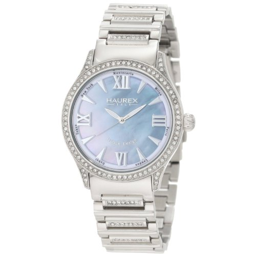 Haurex Italy XS336DBM Preziosa Blue Mother-Of-Pearl Womens Watch