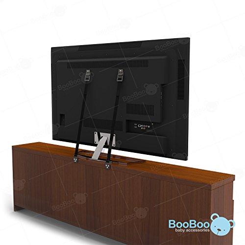 BooBoo-Juego-de-2-correas-de-seguridad-resistentes-Proteccin-anticadas-para-televisores-de-pantalla-plana-y-muebles-Piezas-de-montaje-y-tornillos-incluidos