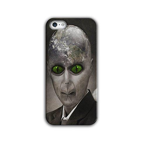 Ausländer UFO Mystiker Fantasie Erde Globus iPhone 5 / 5S Hülle | (Globus Hexe)